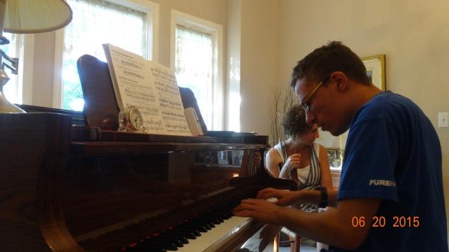 Jacob playing the piano - amazing job!