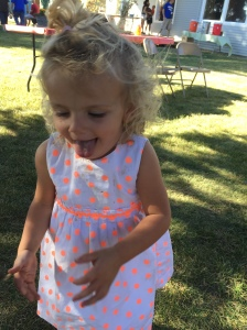 Granddaughter at Harvest Party two weeks ago!