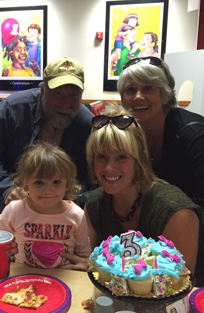Pops and Mimi, Mama and the birthday girl!